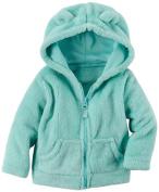 MLG Newborn Boy Girl Cute Bear Ear Hoodies Zip Coral Fur Jacket