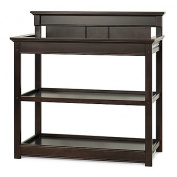 Child Craft Ellicott 2-Shelf Dressing Table in Rich Java,Non-toxic finish