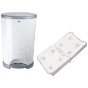 Dekor Plus Hands Free Nappy Pail with PillowTop Changing Pad