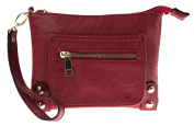Canal Collection PVC Zip Top Wristlet Bag with Front Pocket