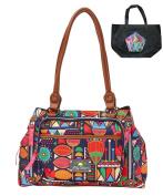 Lily Bloom Floral Tribal Maggy Satchel Handbag & Tote-2 Piece Gift Set
