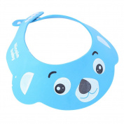 Whitelotous Soft Adjustable Baby Kids Children Shampoo Bath Bathing Shower Cap Hat Wash Hair Shield Hat
