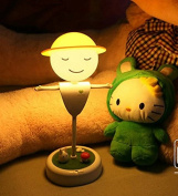 Children's Scarecrow Night Lights Nightlights USB Rechargeable LED Bedside Table Lam Sensor for Kids Baby Valentines Gift Outdoor Lamp
