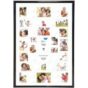 Mainstays 27x40 41-Opening Trendsetter Collage Poster & Picture Frame Made of plastic,Plexiglass insert, Black, Collage