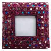 Indian Handmade Decorative Picture Frame Antique Beaded Material HandCrafted Table Top Home Decor Single Photo Gift Frame