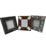 Vintage Style Decorative Family Photo Frame Home Decor Table Top Handcrafted Material Antique Beaded Picture Frame