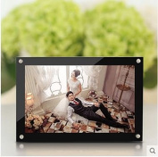 Simple style extra clear acrylic magnet photo frame wedding pictures frame