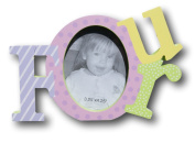 """Colourful Baby Toddler """"Four"""" Picture Frame for Girls - 20cm x 13cm x 2.5cm"""