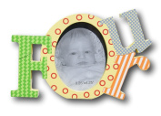 "Colourful Baby Toddler ""Four"" Picture Frame for Boys - 20cm x 13cm x 2.5cm"