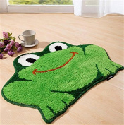 "LM""18 60cm Child Cartoon Lovely Frog Carpet /Soft Smooth Absorbent Living Creative Home Carpet Door Mat/Bedroom Decoration Non-slip Bath Rug"