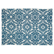 Francesca Deep Teal Rug 20x30