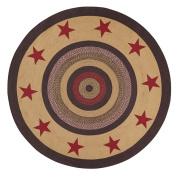 Landon Jute Rug Stencil Stars 1.8m Round
