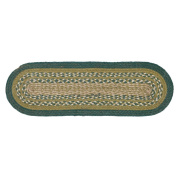 Sherwood Jute Stair Tread Oval Latex 8.5x27