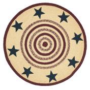 Potomac Jute Rug Stencil Stars 0.9m Round