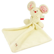 Song Qing Soft Baby Appease Towel Adorable Infant Little Mouse Toys Calm Doll White
