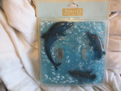 Jubilee Bed,Bath,Home Dolphine Decorative Double Wall Switch Plate