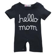 Infant Baby Jumpsuit Girls boys Letters Print Romper Clothes