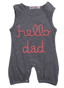 Infant Baby Jumpsuit Girls boys Letters Print Romper Clothes