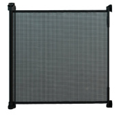 Gaterol Active Lite Black - Retractable Safety Gate - Super Safe 90cm Tall and Opens up to 140cm