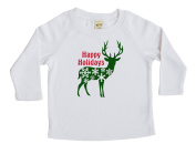 Happy Holiday Deer - Christmas Baby & Toddler Long Sleeve T-shirt