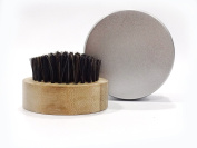 Beard Brush For Men - 100% Natural High Qulity Boar Bristle - Perfect For All Beard Balms and Oils - Beard Oil Brush with Travel Case - With a a Beautiful Wodden Gift Box