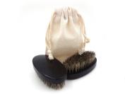 Beard Brush Men Shaving Brush - 100% Bamboo Natural Boar Bristle -Best Beard and Skin Care for Men and Beard Grooming,Easy to Carry,Men Face Care Tools ,Is the Best Gift to Men(Black)
