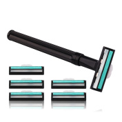 Practical Razor Handle & 6PCs Blade Refills for Man Shaving