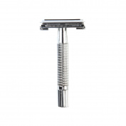 Butterfly Open Double Edge Safety Razor for Man Shaving, 1 Razor + 1 Blade