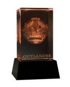 Outlander 3D Crystal Crown & Thistle with Illuminated Base