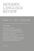 Modern Language Review (111