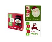 Kole Imports OF556 Holiday Theme Wood Block Sign