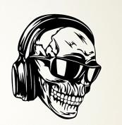 Skull Headphones Glasses Skeleton Music Rubber Stamps custom stamps rubber Rubber Stamps custom stamps rubber