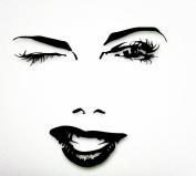 Beautiful Woman Face Winks Sexy Lips Girl Rubber Stamps wood stamps rubber Stamps rubber-stamp