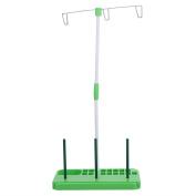 Whitelotous Sewing Thread Stand Adjustable 3 Thread Spools Plastic Holder Green