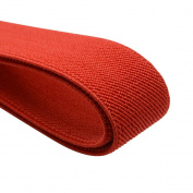 iCraft 2.5cm by 5-Yard Red Coloured Double-side Twill Non-Roll Wowen Elastic