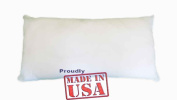 30cm X 50cm Pillow Sham Stuffer White Rectangular Hypoallergenic Pillow Insert (First Quality) Made in USA