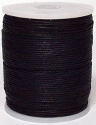 Blue Bird Brand - 1.5mm Black Polished Braided Cotton Cord. 100 metres per spool. Includes 1 spool.