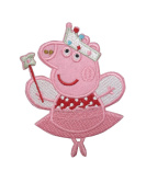 2 pieces CUTE PIG Iron On Patch Applique Motif Piglet Children Cartoon Decal 4 x 3 inches