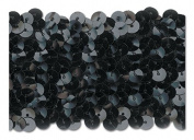 BLACK 5.1cm STRETCH SEQUIN-NEW!!!! LOW PRICE 10 Yards