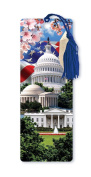 Dimension 9 3D Lenticular Bookmark with Tassel, Washington D.C. Featuring White House and Capitol Building