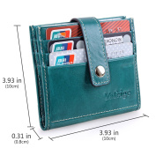 Yafeige Women's Genuine Leather Card Case Mini Wallet Slim Credit Card Holder Purse