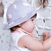 Baby Girls Sun Protection Bucket Cotton Hat Perfect for Summer, Outdoor and Beach