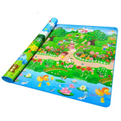 MaBoShi Double-side Extra Large Baby Crawling Stitching Mat Forest Pattern,79*71*0.2〃L*W*H