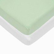 Pindaboo Pack N Play Playard Fitted Sheet, Celery & White