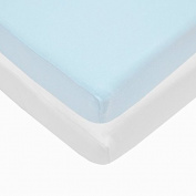 Pindaboo Pack N Play Playard Fitted Sheet Blue & White