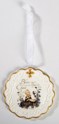 Hummel Bless This Child Baptism Porcelain Cradle Crib Medal