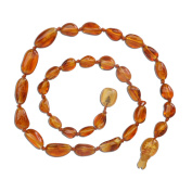 Natural Baltic Amber Teething Necklace in Honey Colour (Polished) 30cm - 32cm