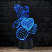 Unique Night Light Teddy Bear 7 Colour LED Does Not Get Hot By rainbolights Ideal In A Nursery or bedroom a Great Gift Idea