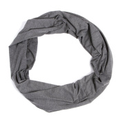 Nursing Scarf For Breastfeeding By Consider It Maid - Cotton & Polyester Blend, Soft, Lightweight & Breathable Material - Maximum Privacy - Modern, Stylish Design - Dark Grey