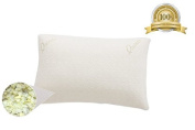 Quiesta Memory Flake Body Pillow, Memory Foam Interior, Bamboo Fabric Case, Ideal During Pregnancy